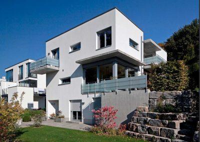 Erne Vogel Hug Architekten aus Freiburg Ebnet Einfamilienwohnhaus mit Einliegerwohnung am Lorettoberg Richtung Merzhausen