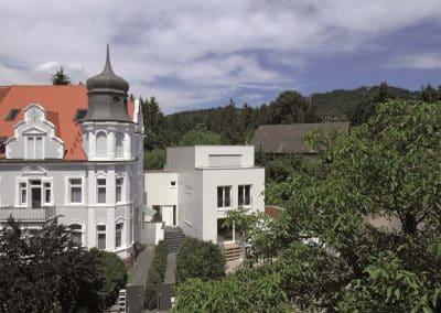 Erne Vogel Hug Architekten aus Freiburg Ebnet Sanierung eines historischen Wohngebäudes und Neubau eines Einfamilienwohnhaus in Freiburg Herdern
